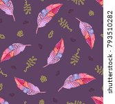 seamless pattern with... | Shutterstock . vector #793510282