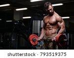 sexy strong bodybuilder... | Shutterstock . vector #793519375