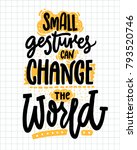 small gestures can change the... | Shutterstock .eps vector #793520746