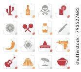 stylized mexico and mexican... | Shutterstock .eps vector #793527682