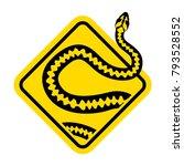 warning sign of attention... | Shutterstock .eps vector #793528552