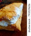 triangular bread stuffed with... | Shutterstock . vector #793529656