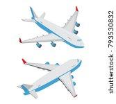 isometric 3d flat style flying...   Shutterstock .eps vector #793530832