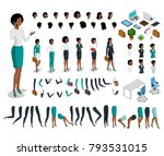 flat style isometric body parts ... | Shutterstock .eps vector #793531015