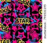 abstract seamless stars pattern ... | Shutterstock .eps vector #793531195