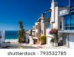 modern homes lining a street... | Shutterstock . vector #793532785