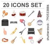 musical instrument cartoon... | Shutterstock .eps vector #793533886