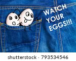 Funny Eggs  In The Pocket Of A...