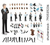 flat style isometric body parts ... | Shutterstock .eps vector #793535236