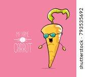 vector funny cartoon cute... | Shutterstock .eps vector #793535692