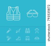 industry tool icons set with... | Shutterstock .eps vector #793535872
