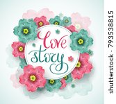 love story template for banner...   Shutterstock .eps vector #793538815