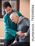 senior elderly lady having... | Shutterstock . vector #793540066