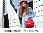 outdoor waist up portrait of...   Shutterstock . vector #793541896