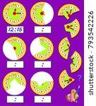 logic exercise for children.... | Shutterstock .eps vector #793542226