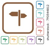signpost simple icons in color... | Shutterstock .eps vector #793544812