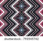 geometric folklore ornament.... | Shutterstock .eps vector #793545742