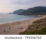 beach in fisterra  spain   Shutterstock . vector #793546765