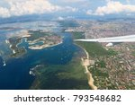 bali island aerial view from... | Shutterstock . vector #793548682