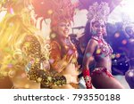 Brazilian women dancing samba...