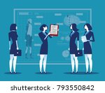 business people with analysis... | Shutterstock .eps vector #793550842