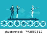 rpa robotic progress... | Shutterstock .eps vector #793553512