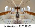 corporate jet interior | Shutterstock . vector #793557385