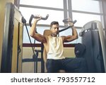 fit man at the gym  | Shutterstock . vector #793557712