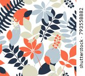 tropical jungle trendy seamless ... | Shutterstock .eps vector #793558882