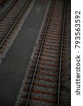 two railway tracks. abstract... | Shutterstock . vector #793563592
