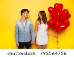 couple in love looking to each...   Shutterstock . vector #793564756