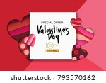 happy valentines day sale... | Shutterstock .eps vector #793570162