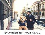 young beautiful couple enjoying ... | Shutterstock . vector #793572712