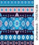 geometric aztec pattern. tribal ... | Shutterstock .eps vector #793576186