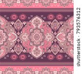 indian rug paisley ornament... | Shutterstock .eps vector #793576312