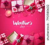 valentine's day greeting card...   Shutterstock .eps vector #793580632