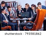 business people office life of... | Shutterstock . vector #793581862