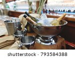 champagne vodka and wine in an... | Shutterstock . vector #793584388