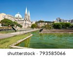se cathedral in sao paulo city  ... | Shutterstock . vector #793585066