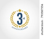 anniversary sign collection ... | Shutterstock .eps vector #793587556