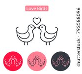 love birds icon on white... | Shutterstock .eps vector #793588096
