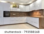 Stock photo kitchen with appliances and a beautiful interior 793588168