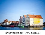 Old harbor from Gdansk, Poland - stock photo