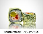 delicious sushi from a local... | Shutterstock . vector #793590715