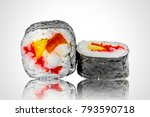 delicious sushi from a local... | Shutterstock . vector #793590718