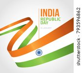 indian republic day 26 january... | Shutterstock .eps vector #793596862