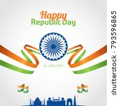 indian republic day 26 january... | Shutterstock .eps vector #793596865