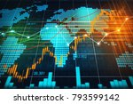 stock market or forex trading... | Shutterstock . vector #793599142