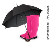 a pair of rainboots and an... | Shutterstock .eps vector #79360036