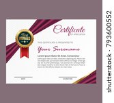 certificate template with... | Shutterstock .eps vector #793600552